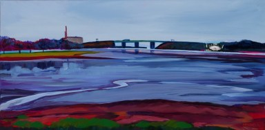Tukey's Bridge, oil by Caren-Marie Michel
