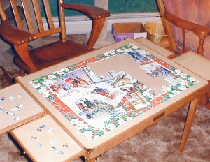 puzzle from a few years back with the table on its removable legs