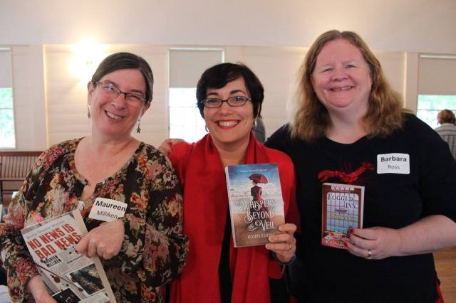 One of the great things about being a Maine writer is hanging with really cool people. At Books in Boothbay, I had Paul Doiron on one side, and fellow crime writers Jessie Crockett and Barb Ross on the other. (Thanks Lynn Plourde for the photo!)