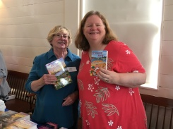 Lea and Barb at Books in Boothbay, July 14, 2018