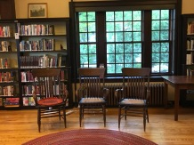 Inside the Rangeley Library just before our program