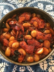 Ottolenghi's chicken with prunes and pomegranate molasses