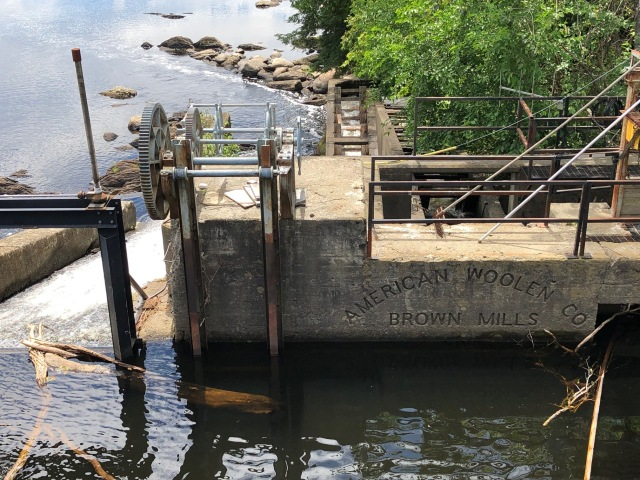 A dam lock and fish ladder